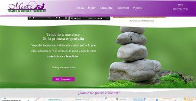 Marta | Danza & Pilates. Diseño web