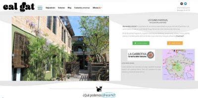 Cal Gat - Turismo Rural para grupos. Desarrollo web