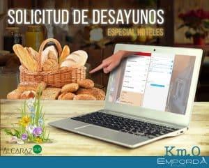 Demo de carta digital para solicitud de desayunos